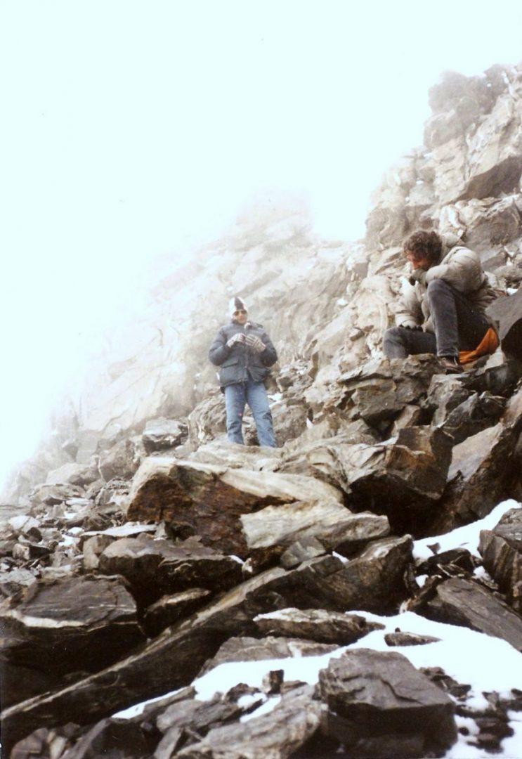 Las paredes de piedra del cerro Franke, en el Cordón del Plata.