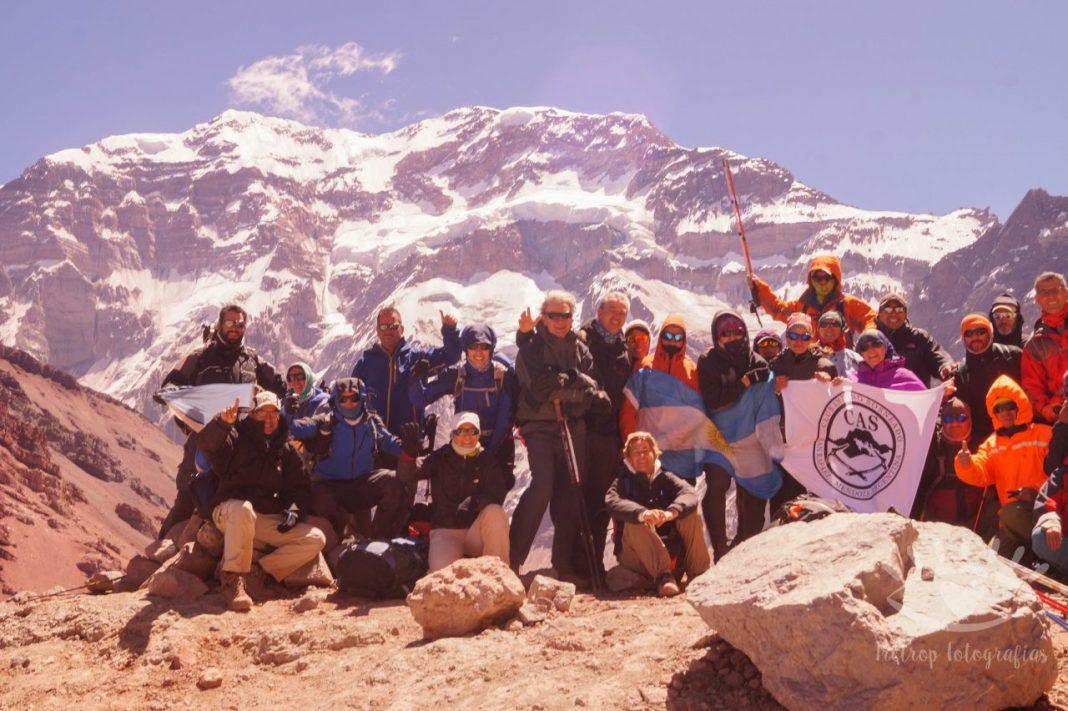 Un logro del CAS: 40 integrantes en el Parque Aconcagua en la temporada pasada.