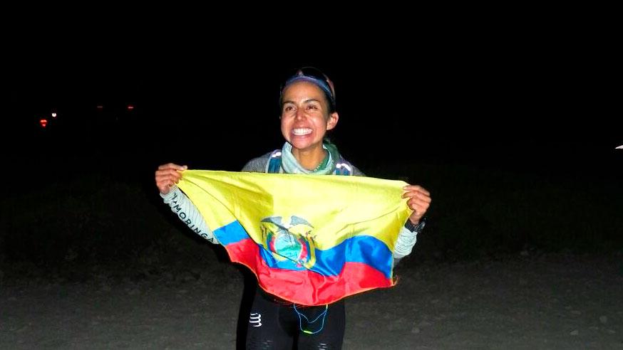 La ecuatoriana Daniela Sandoval batió el récord femenino en Aconcagua - Foto: Revista Cumbres