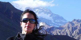 Nancy Roldán en su hábitat soñado: el Parque Aconcagua.