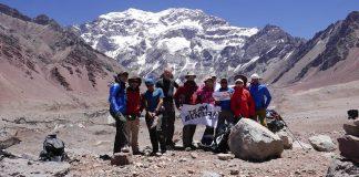 El Team Aventura en la pared Sur de Aconcagua.