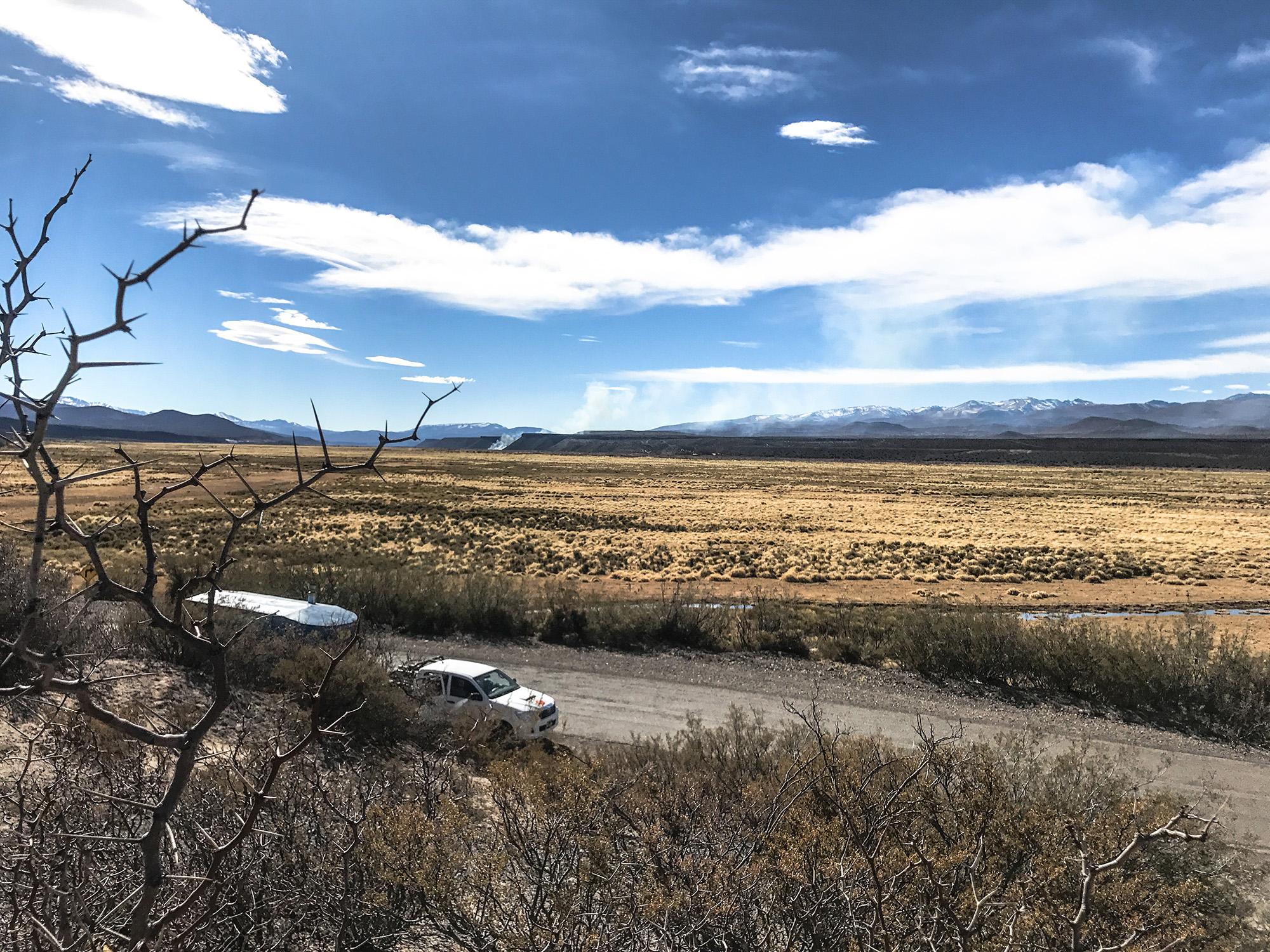 Un alto en la ruta 40 rumbo la Patagonia.
