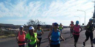 Parte del grupo de chicas que encontraron en el running una verdadera pasión.