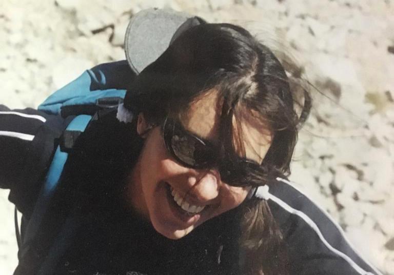Sonrisa y felicidad plena en la montaña, una síntesis de los últimos años de vida de Nancy Silvestrini. (Foto: Ulises Corvalán)
