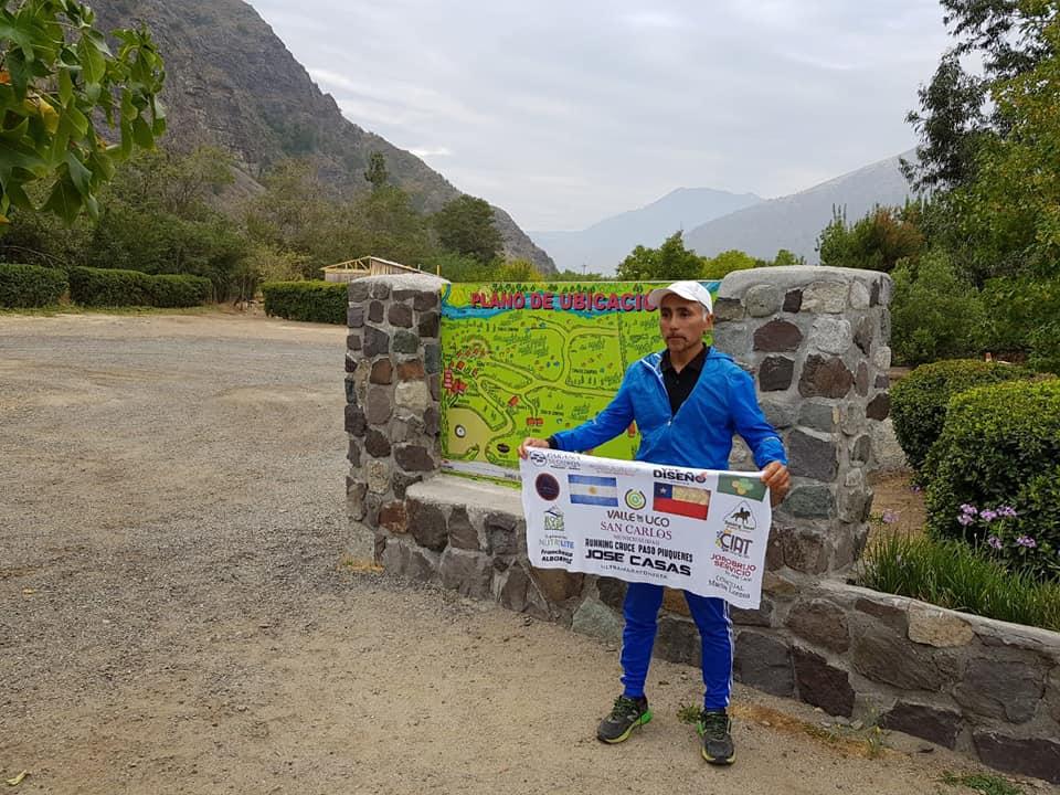 José ya en el Cajón del Maipo con el objetivo de cruzar los Andes cumplido.