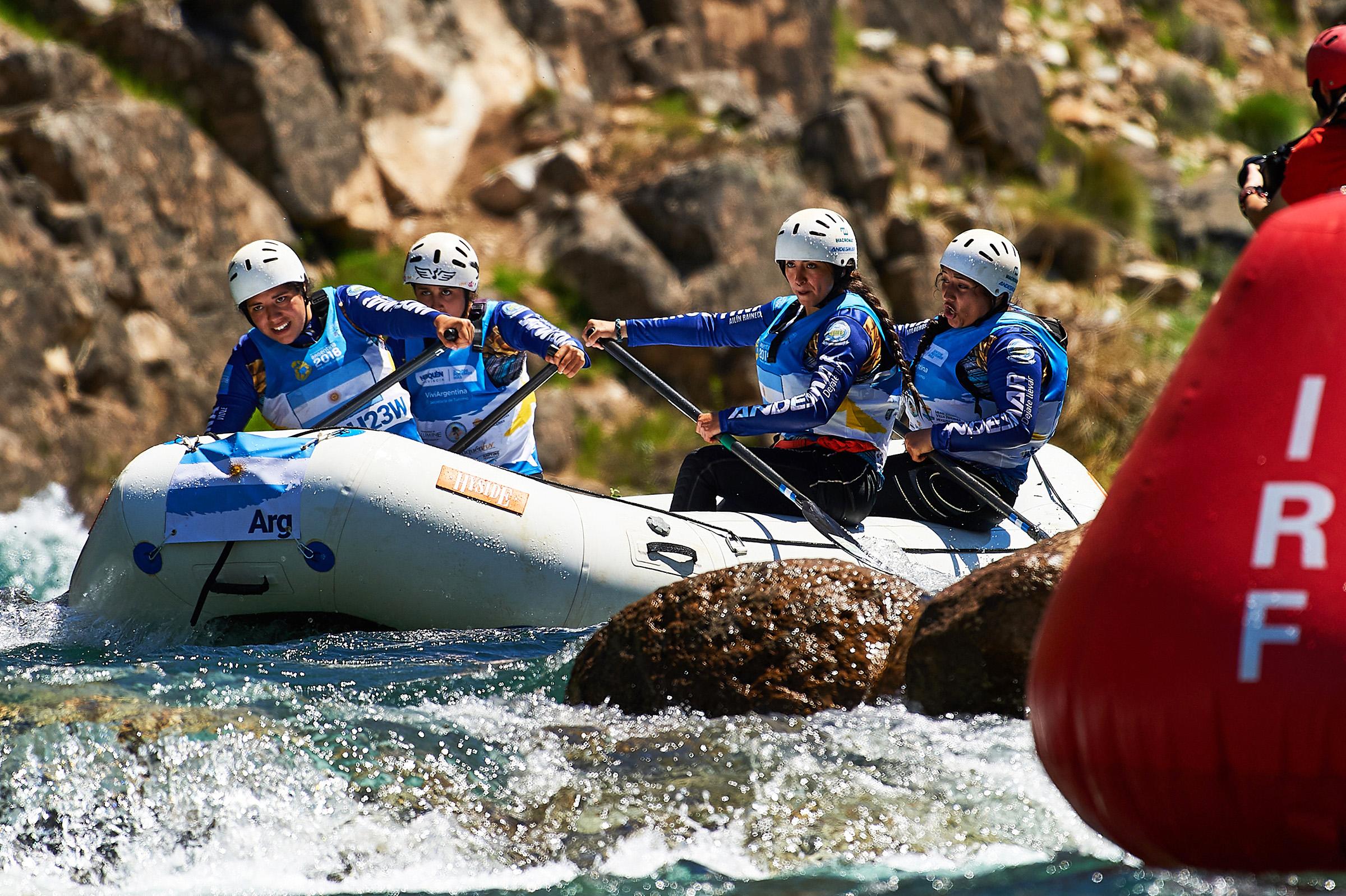 El Mundial de rafting se realizó en el río Aluminé, Neuquén, Argentina. PH: Sean Clarke IRF