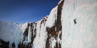 Cascadas de hielo. Ph: Archivo Federación de Montañismo de Tomsk.