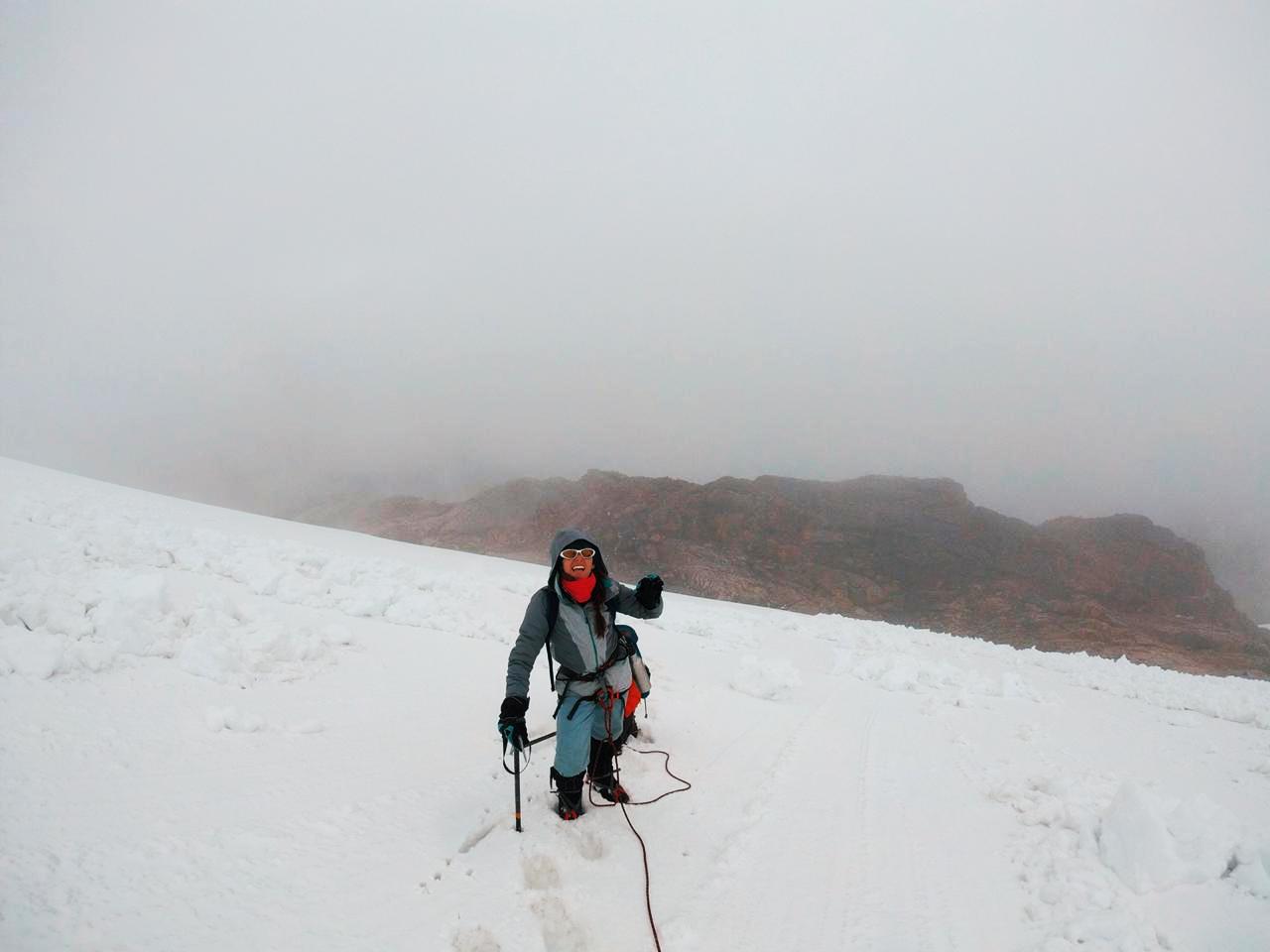 """""""El lugar estaba cargado de nieve. No era difícil darse cuenta de que estábamos en una zona peligrosa""""."""
