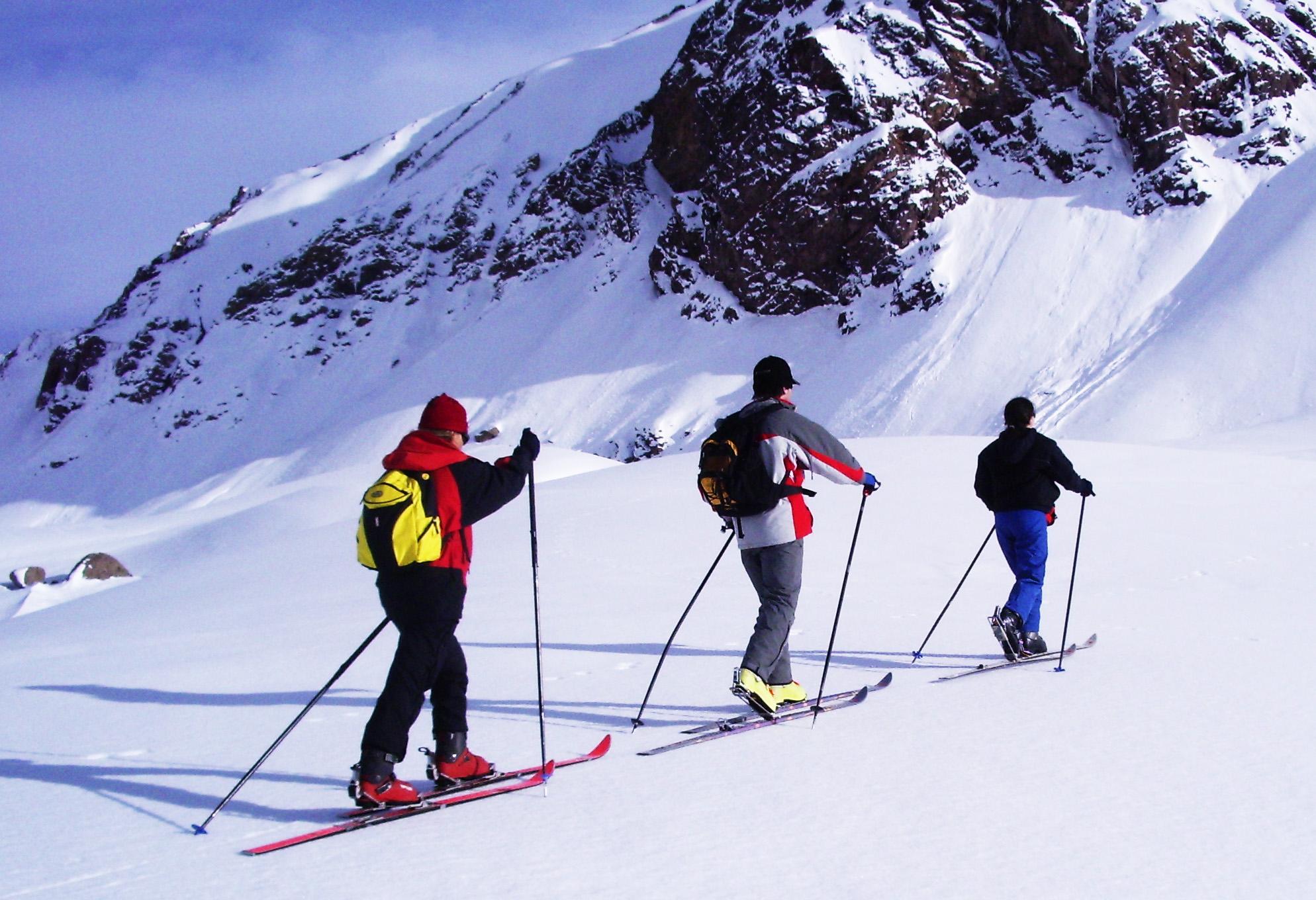 Esquí de travesía es una posibilidad que se baraja en el Parque Aconcagua. (PH: Gentileza Luis Salvarredi Via Pöhl)