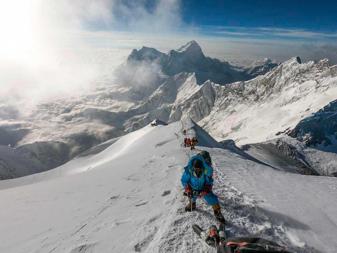 Para Juan Pablo Mohr el Everest fue durísimo, por lo extenso y por hacerlo sin oxígeno adicional.