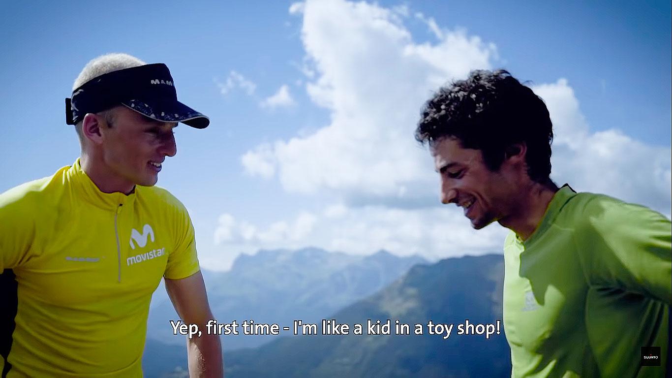 Captura del video de Montaz-Rosset Film en Chamonix, Francia, cuando Karl Egloff y Kilian Jornet se conocieron.