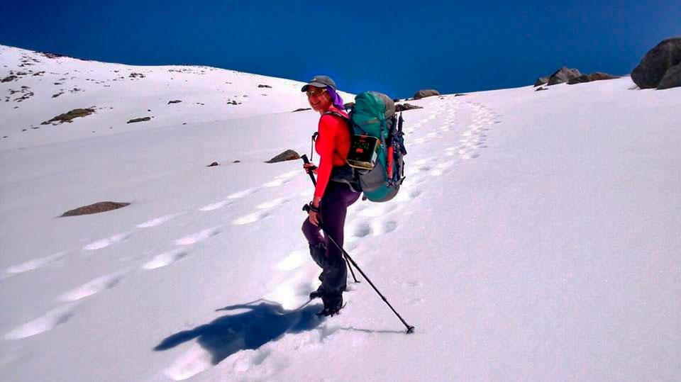 Lina Quevedo Castro, una andaluza en busca de los 8 miles.