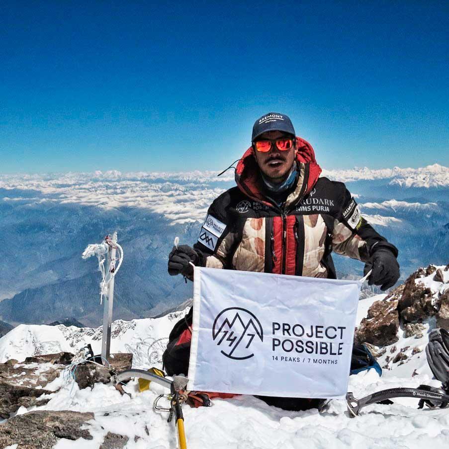 Nirmal Nims Purja en la cima del Nanga Parbat (Ph Instagram @nimsdai)