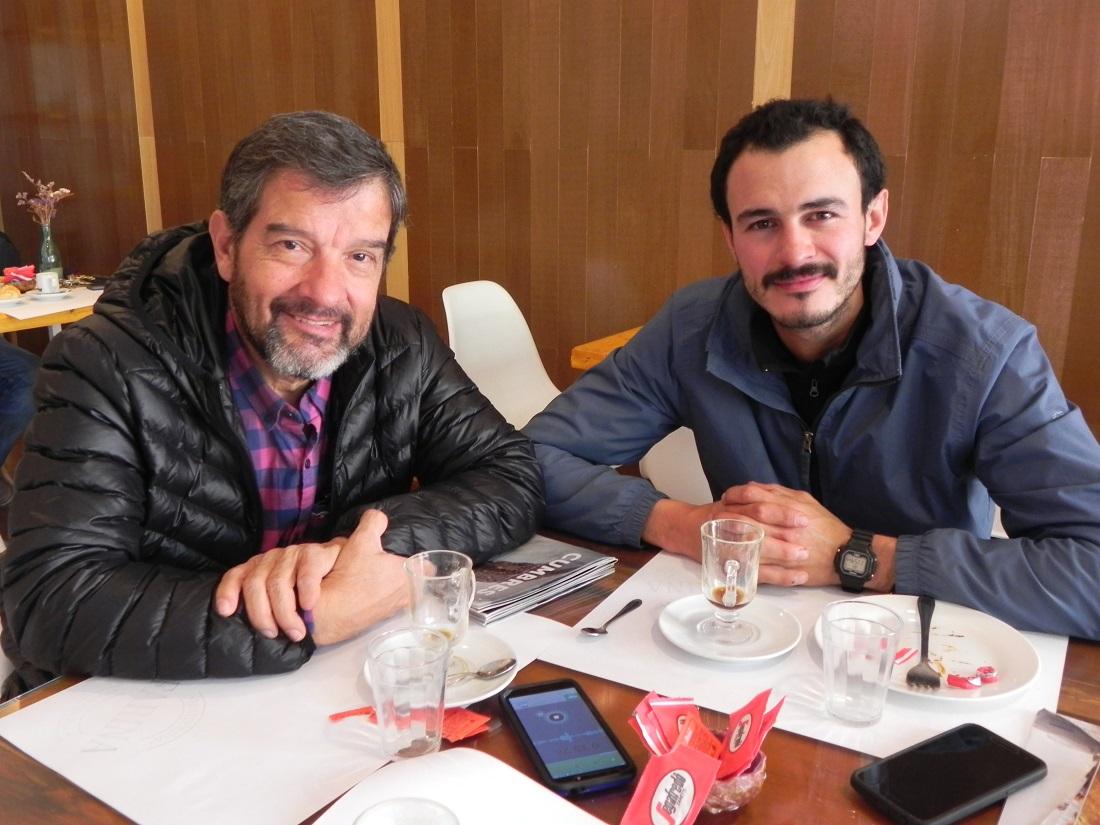 Germán Braillard Pocard y Luciano Merino, protagonistas de Aconcagua invernal 2019.