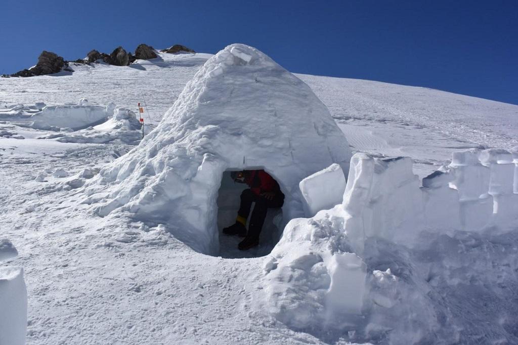Uno de los campamentos intermedios en Denali.