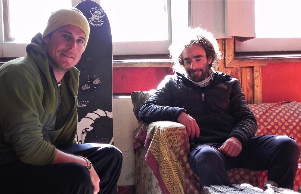 Xavier Schumacher y Olivier Milon Favre (sponsoreado por lodge Portezuelo del Viento), en su paraíso de Las Cuevas.