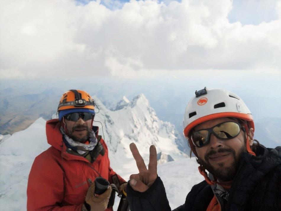 """Alfredo """"Yupi"""" Rangel (Ven) y Felipe Randis (Arg), cordada sudamericana con el objetivo logrado."""
