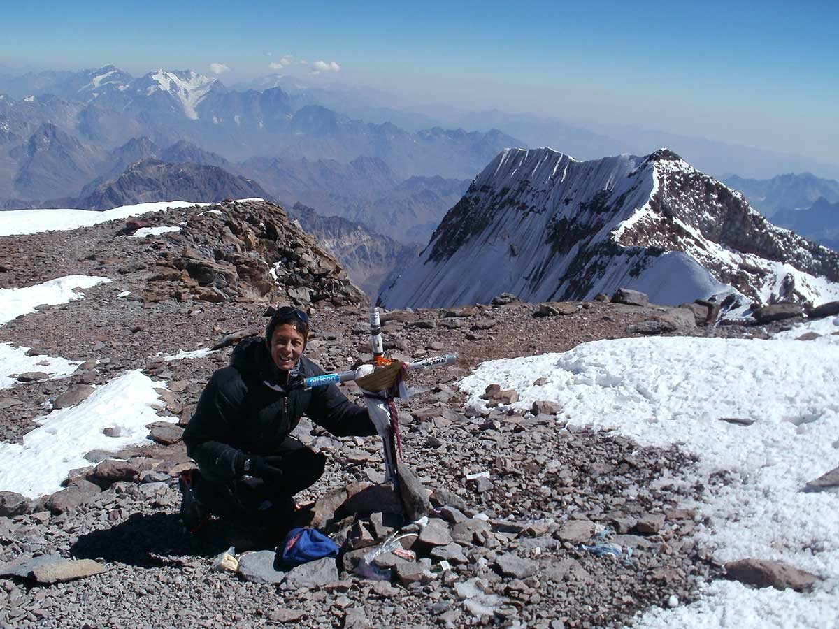 Laly Ulehla en Aconcagua, la Seven Summits sudamericana.