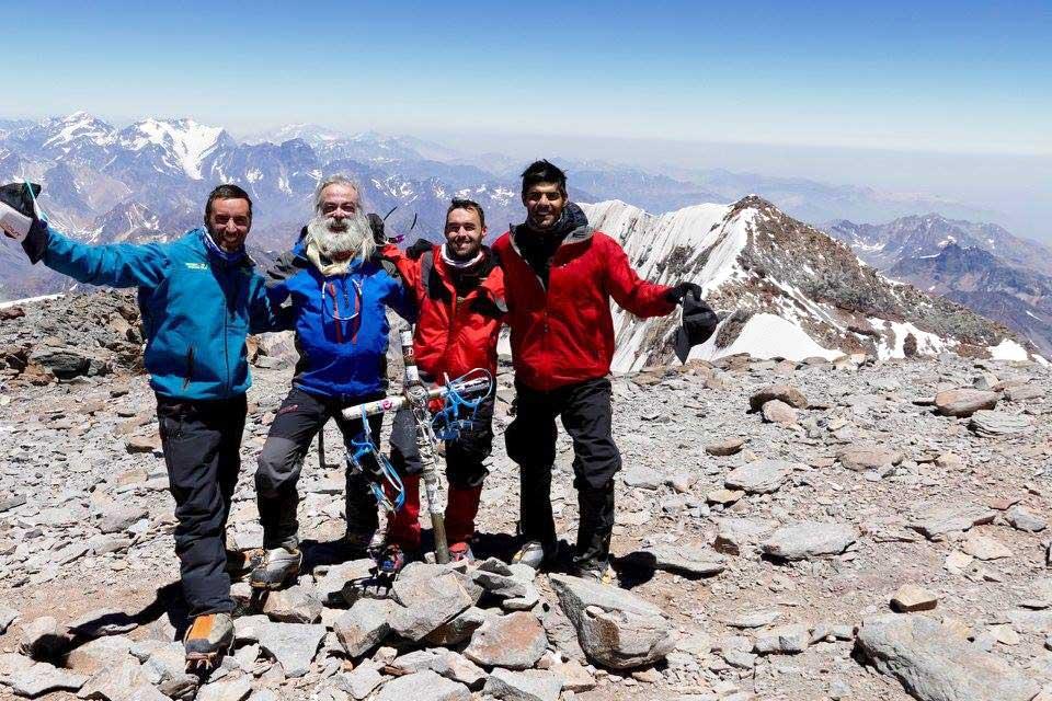 Cumbre, objetivo cumplido en Aconcagua.