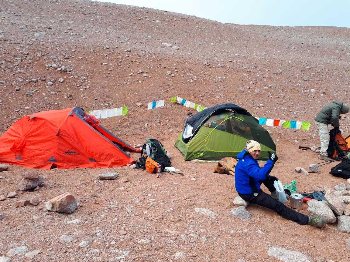 Uno de los campamentos, por encima de los 4.000 metros.