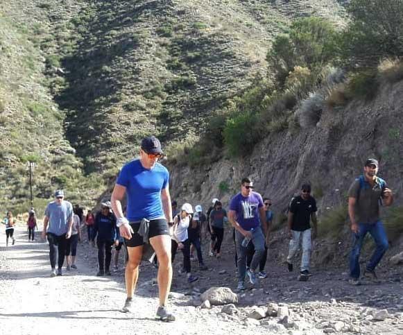 El entrenamiento en cerro Arco, un clásico del deporte de montaña en Mendoza.