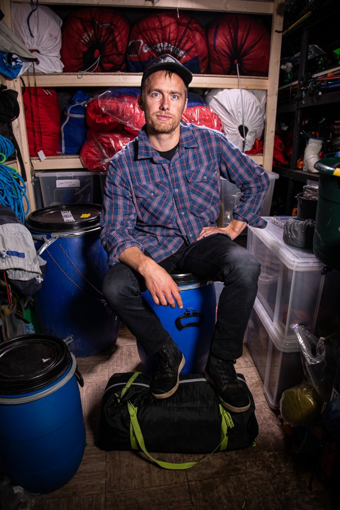 El escalador y explorador británico Leo Houlding.