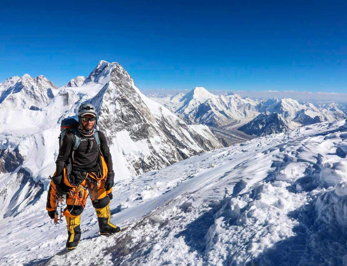 Moeses Fiamoncini en su lugar en el mundo: los 8 miles del Himalaya.