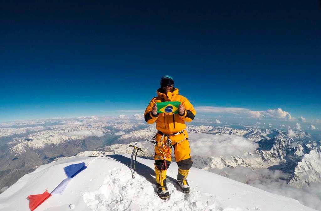 Moeses Fiamoncini, primer brasileño en la cumbre del Nanga Parbat.