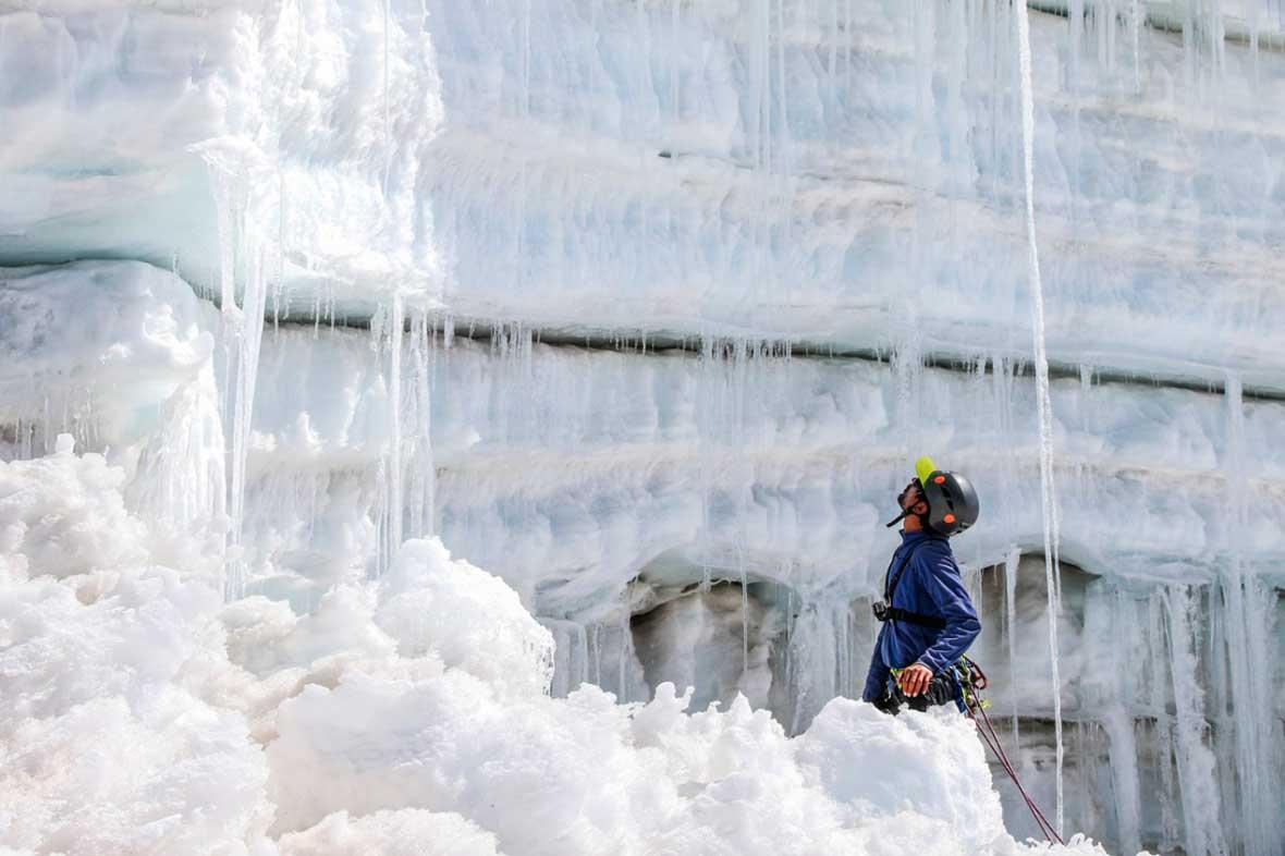 El glaciar Quelccaya, en la expedición realizada en junio pasado. Ph Stéphane Vallin.