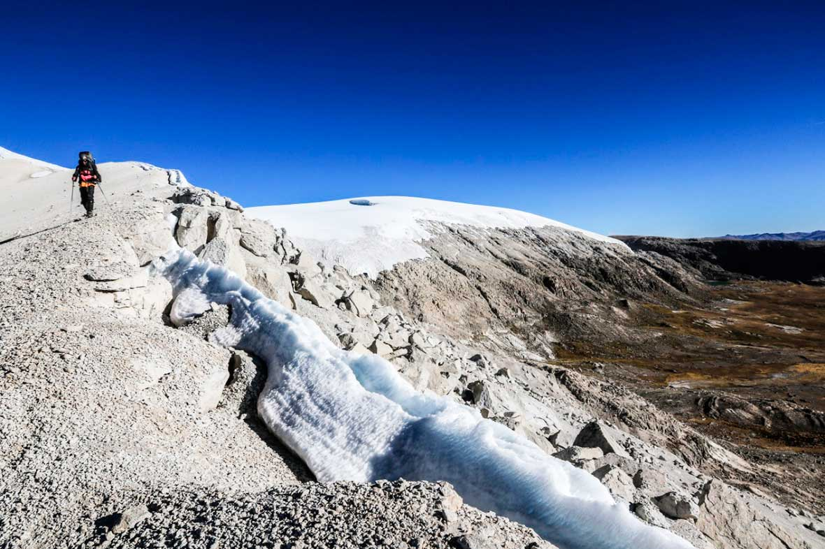 El glaciar Quelccaya, cordillera de Vilcanota, Perú. Ph Stéphane Vallin.