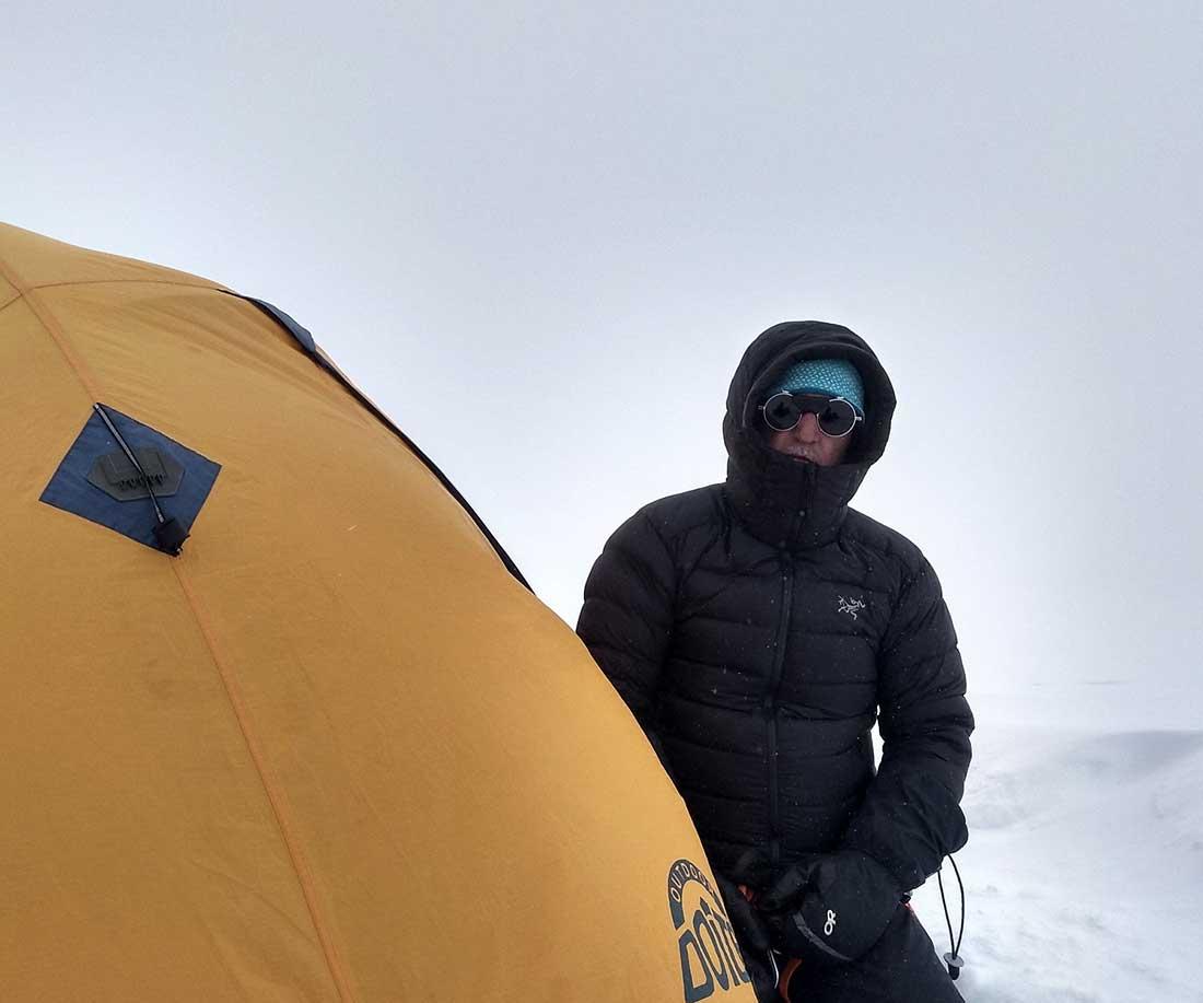 Una de las jornadas de pésimas condiciones en la expedición invernal al glaciar Quelccaya.