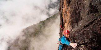 Leo Houlding haciendo lo que más sabe, en el monte Roraima