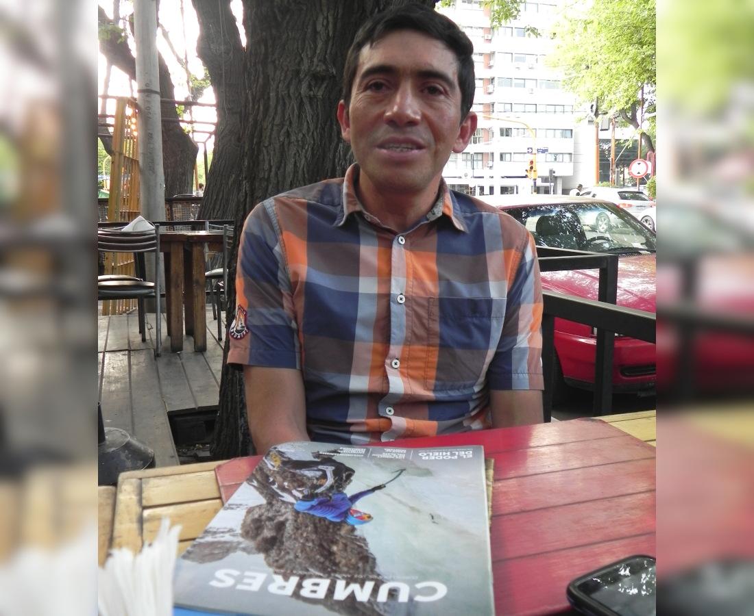 El ecuatoriano Oswaldo Freire concedió a Cumbres una extensa entrevista en Mendoza.