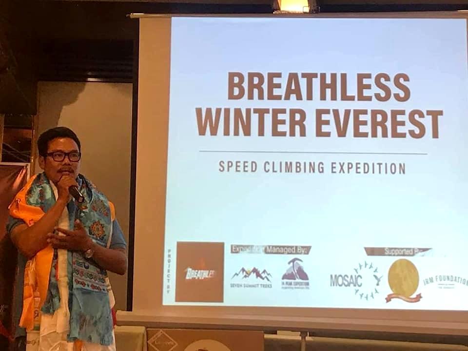 Tashi Lakpa anuncia la iniciativa: Everest invernal en 5 días sin oxígeno suplementario.