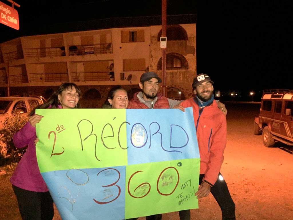 Matías Sergo batió por segunda vez el récord por la ruta 360°de Aconcagua.