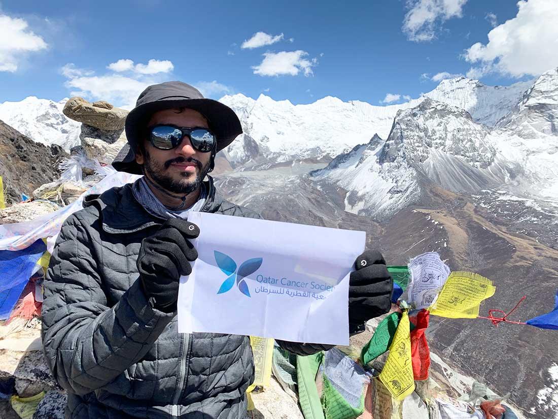 Junto a sus logros en alpinismo, Fahad Badar busca apoyar causas benéficas con eje en su país, Qatar.
