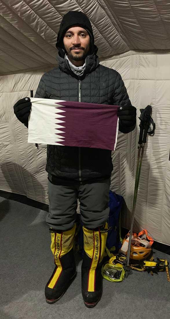 Si asciende los 14 ochomiles, Fahad Badar será el primer qatarí en lograrlo.