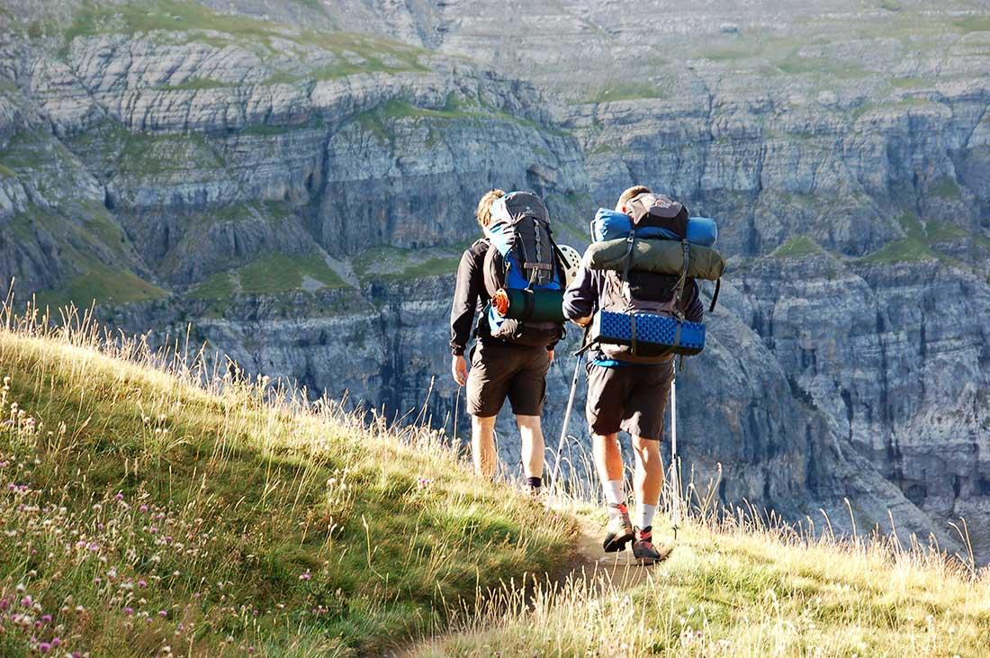 Camino al monte Perdido, en el Pirineo. La naturaleza como escenario saludable.