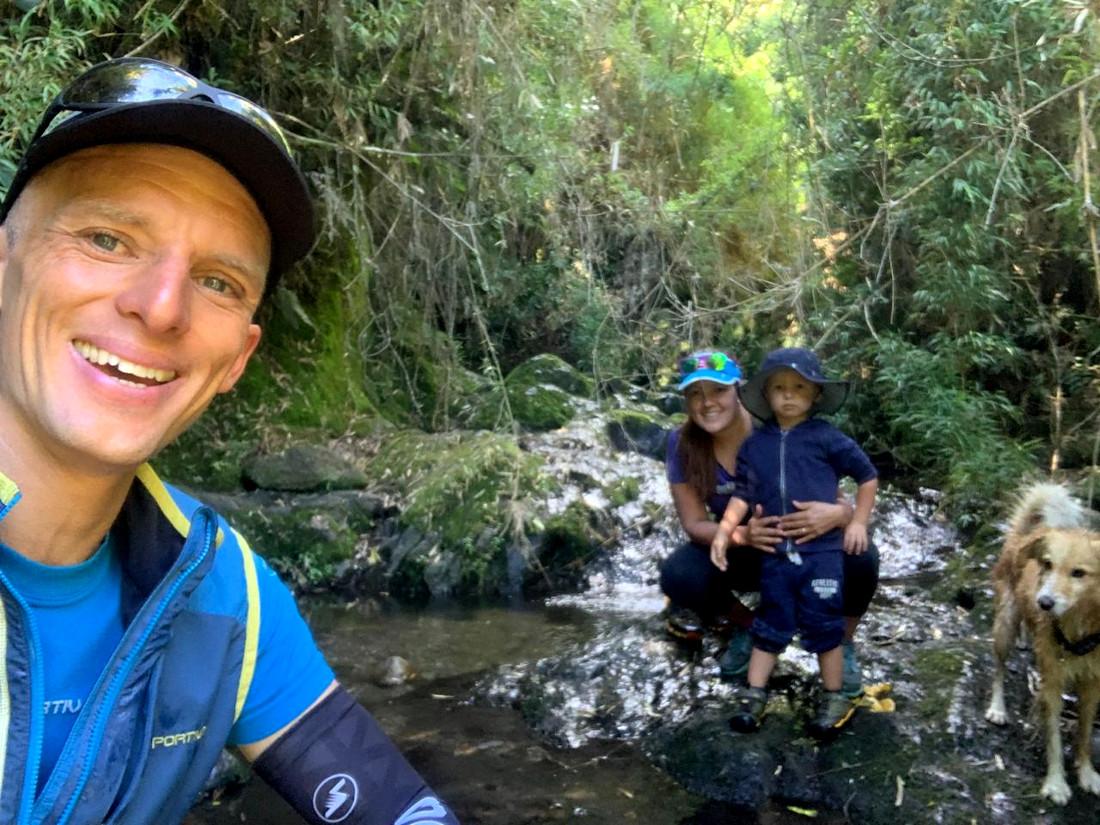 Tiempo de familia para Karl Egloff en Quito.