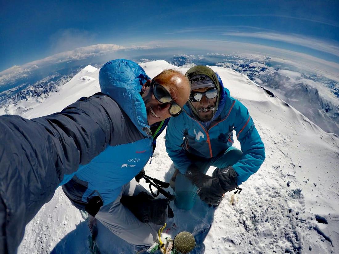 Karl Egloff en Denali junto a su amigo de toda la vida, Nicolás Miranda.