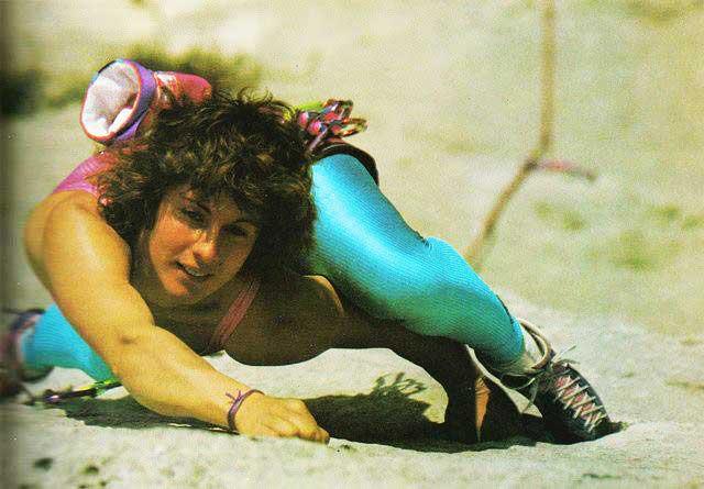 Catherine Destivelle en los albores de su carrera. La roca era su hábitat.
