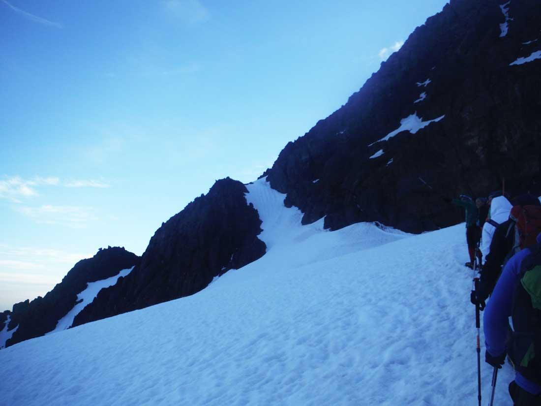 La ruta Ikhibi Sur del Toubkal tiene cerca de 800 metros de desnivel.