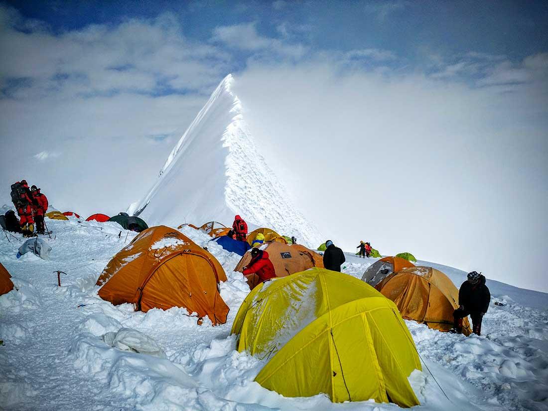 Campo 3 de Manaslu, uno de los máximos atractivos de escalada en Nepal (PH Juan P. Sarjanovich)
