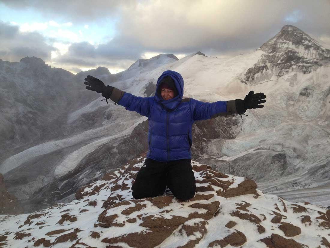 Una de las cumbres previas a su Everest fue Aconcagua, el monte más alto de los hemisferios Sur y Oeste.