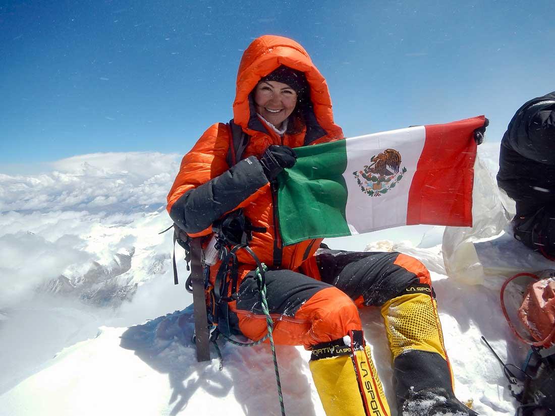 Viridiana Álvarez y su momento de mayor gloria, en la cima de Everest.