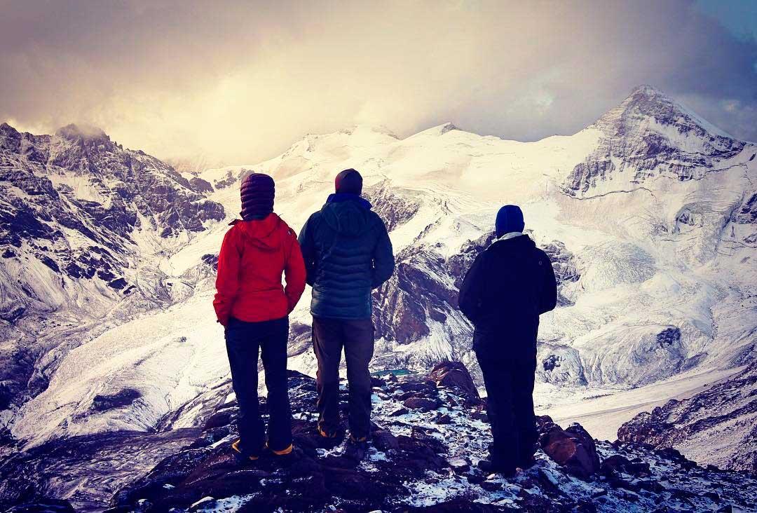 Atardece en el campo 2 de Aconcagua, la Seven Summit de Sudamérica. (Ph Tomás Ceppi)