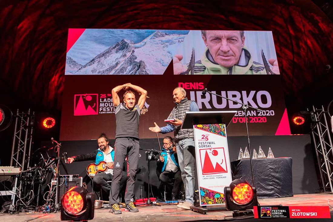 Denis Urubko, ruso nacionalizado polaco, recibió el Piolet D'Or nacional de Polonia.