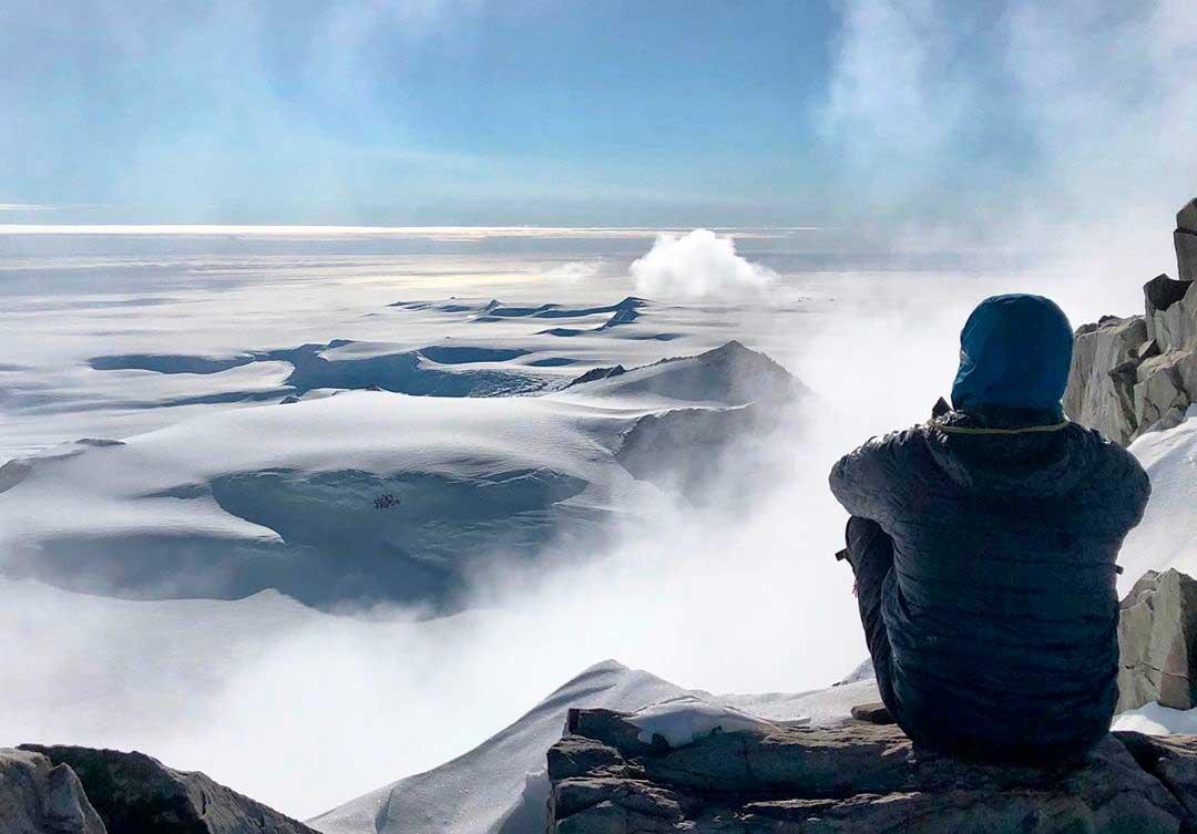 Todo el panorama hacia el polo Sur, en Vinson, Antártida, la más remota de las Seven Summits. (Ph Tomás Ceppi)