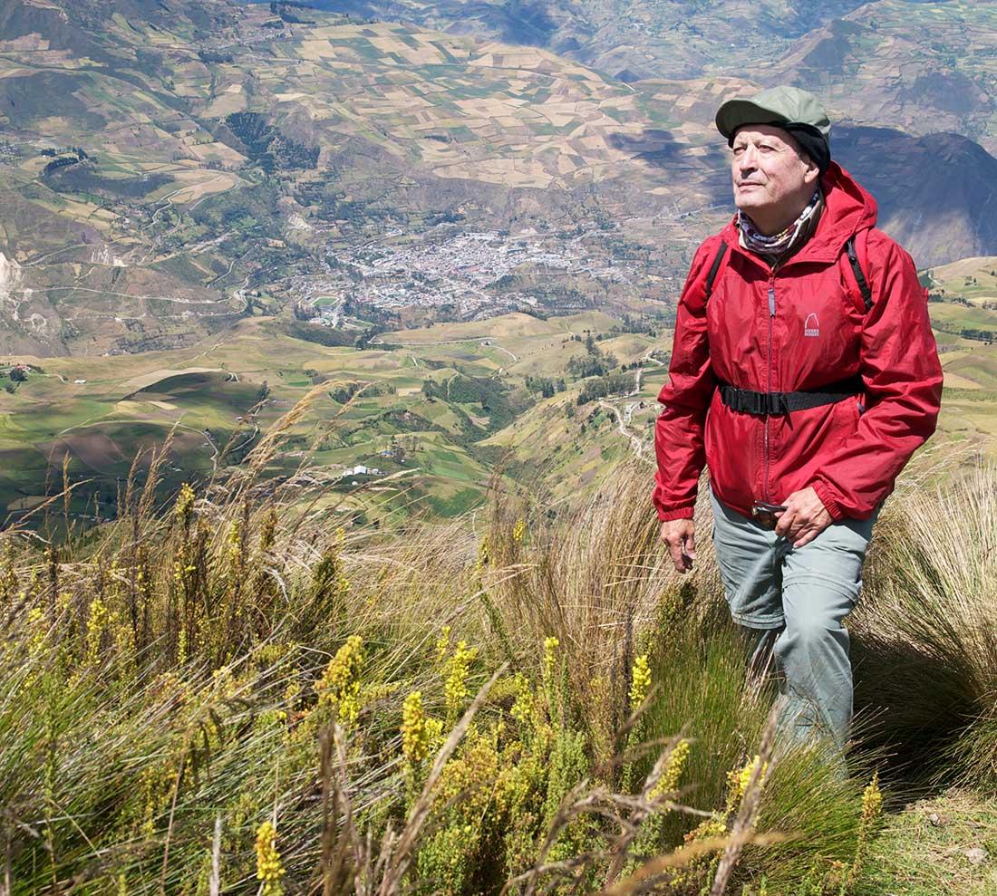 El ecuatoriano Franklin Velasco-Garcés en su hábitat natural.