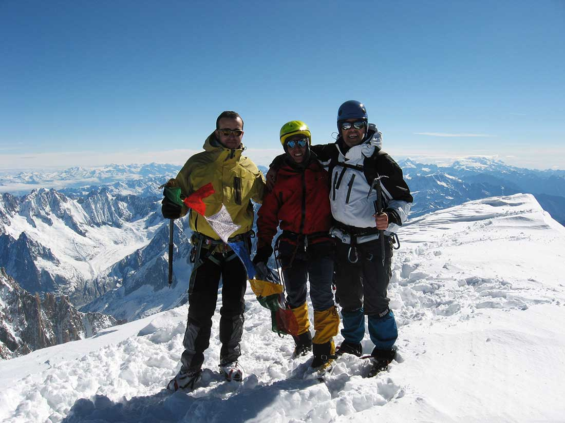 La ansiada cumbre del Mont Blanc (4.800 m) por la ruta de la Aguille de Goûter.